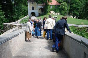 Aufgang zur Burg mit Blick auf das Vorwerk